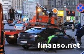 За неправильную парковку автомобилей украинских водителей ждут штрафы