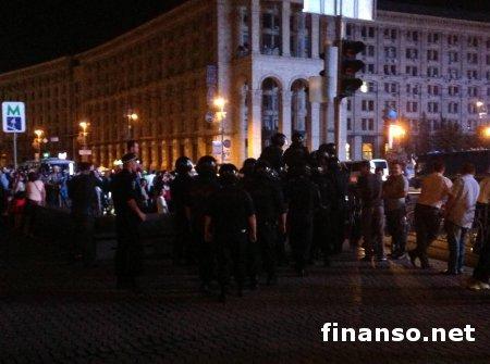 В Киеве на Майдане собрались полторы тысячи возмущенных остановкой евроинтеграции