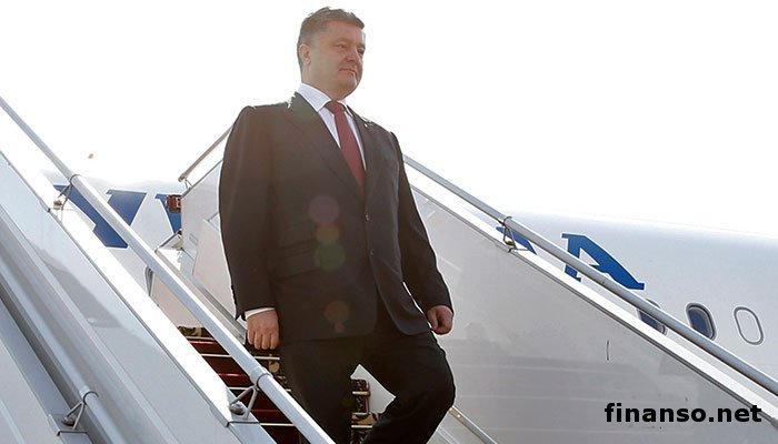 Порошенко прибыл в Туркменистан с официальным визитом